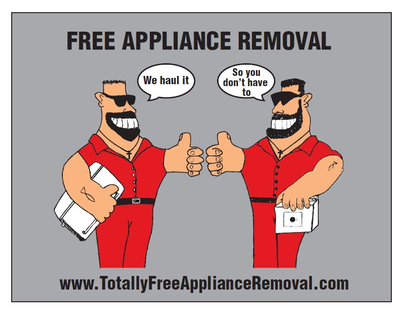 Totally Free Appliance Removal - Lane County Oregon - Service Areas